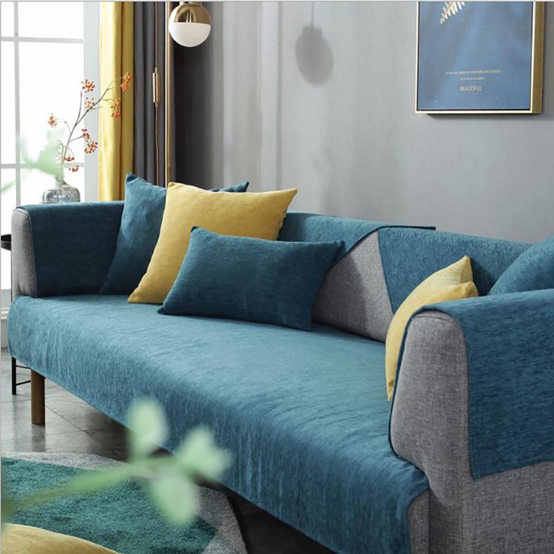 غطاء حجم الملك لحاف السرير الشنيلغزل ركن الأريكة- 006-SC-NYD