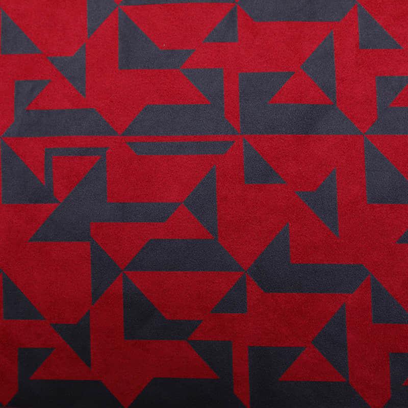 أحمر اللون متماسكة 90 ٪ البوليستر 10 ٪ دنة طبقة الهواء من جلد الغزال نسيج متماسكة